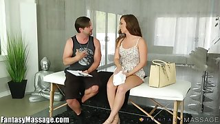 Sexy babe Maddy O Reilly is fucked and jizzed after full diet knead