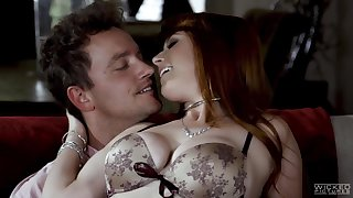 Young couple try cuckold making love with three man to spurt up marriage