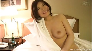 After she takes her clothes off hot lady gets her pussy pleased