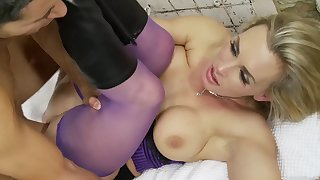 Clothed sex with Tanya Tate is something this dude can't forget
