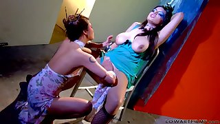 Hardcore lesbian action with Charmane Star and Yuri Luv.