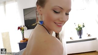 Pretty babe Lili Lamour got two strong dicks for the first time in the life