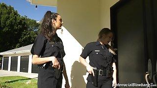 Sympathetic sissified cop Eliza Ibarra enjoying some hot blowbang session