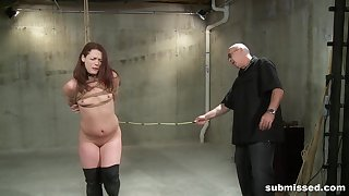 Full preference for a slim redhead in scenes of full obedience