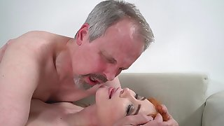 Horny venerable guy has unforgettable sex all round wife's cute stepdaughter