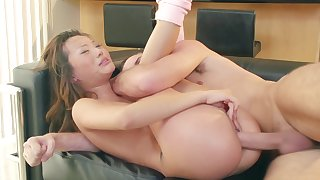 Blaring hardcore fuck be required of petite Asian unspecified Alina Li